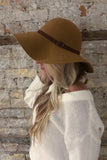 SOLD OUT / Tamara Leather Belted Hat in Camel