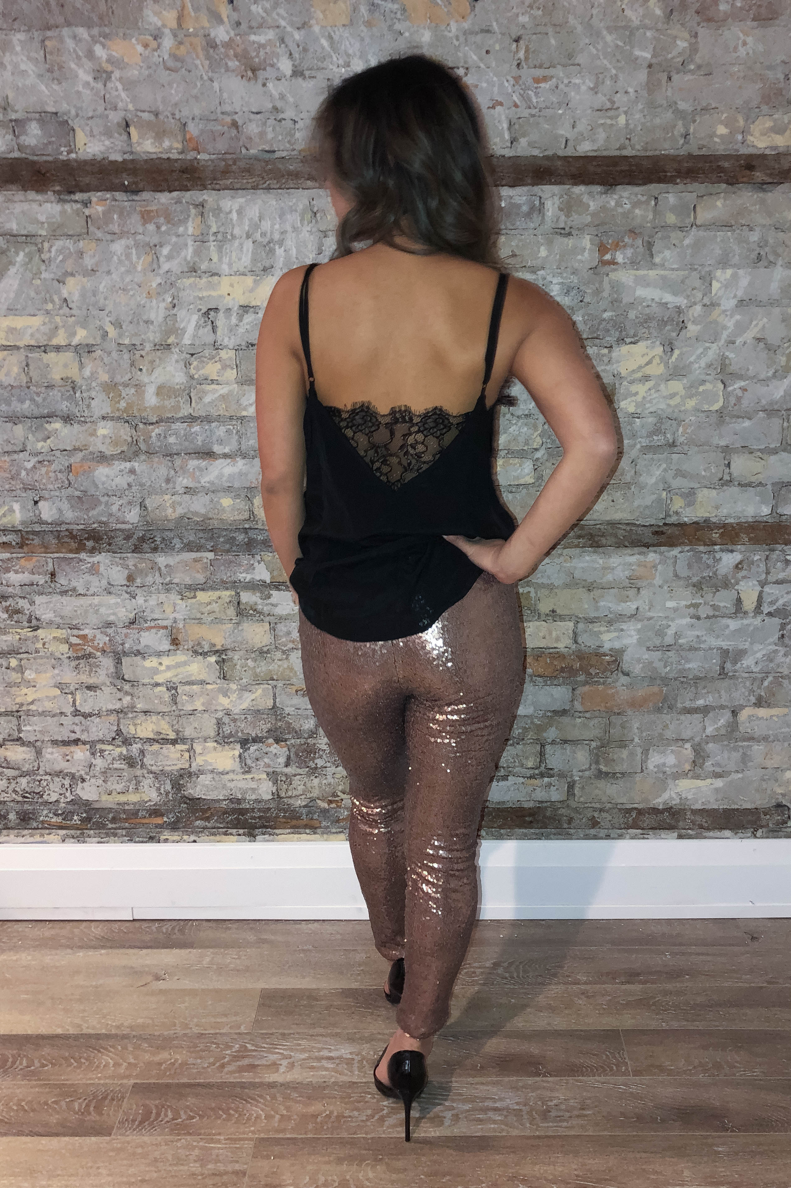 Shine On Sequin Pants in Gold / FINAL SALE