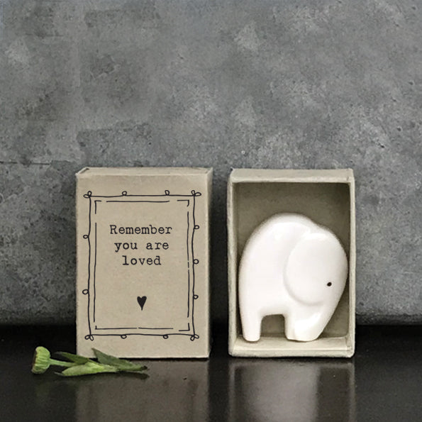 Matchbox Porcelain Elephant