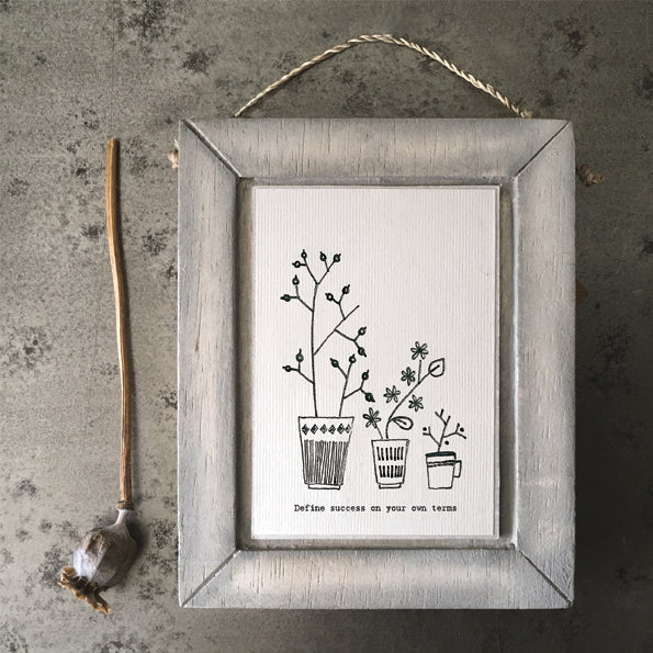 Ink flower Wood Picture - Define success on your own terms