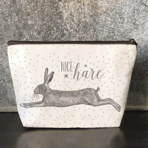 Cosmetics Bag- Hare