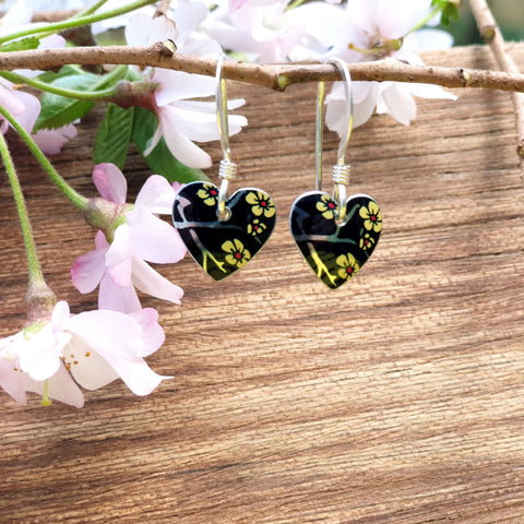 Willow Blossom Small Round Heart Earrings