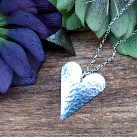Eco Aluminium Heart Necklace