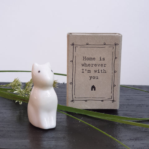 Matchbox Porcelain Cat