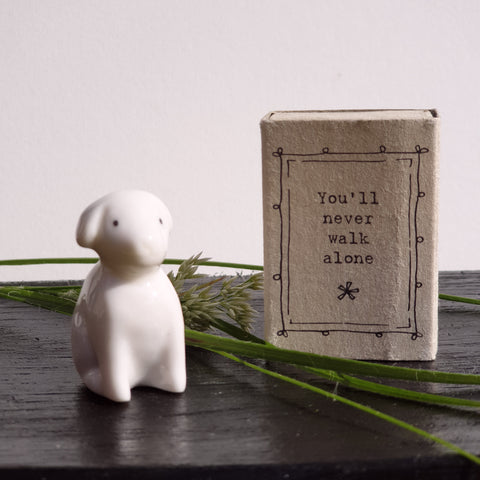 Matchbox Porcelain Dog