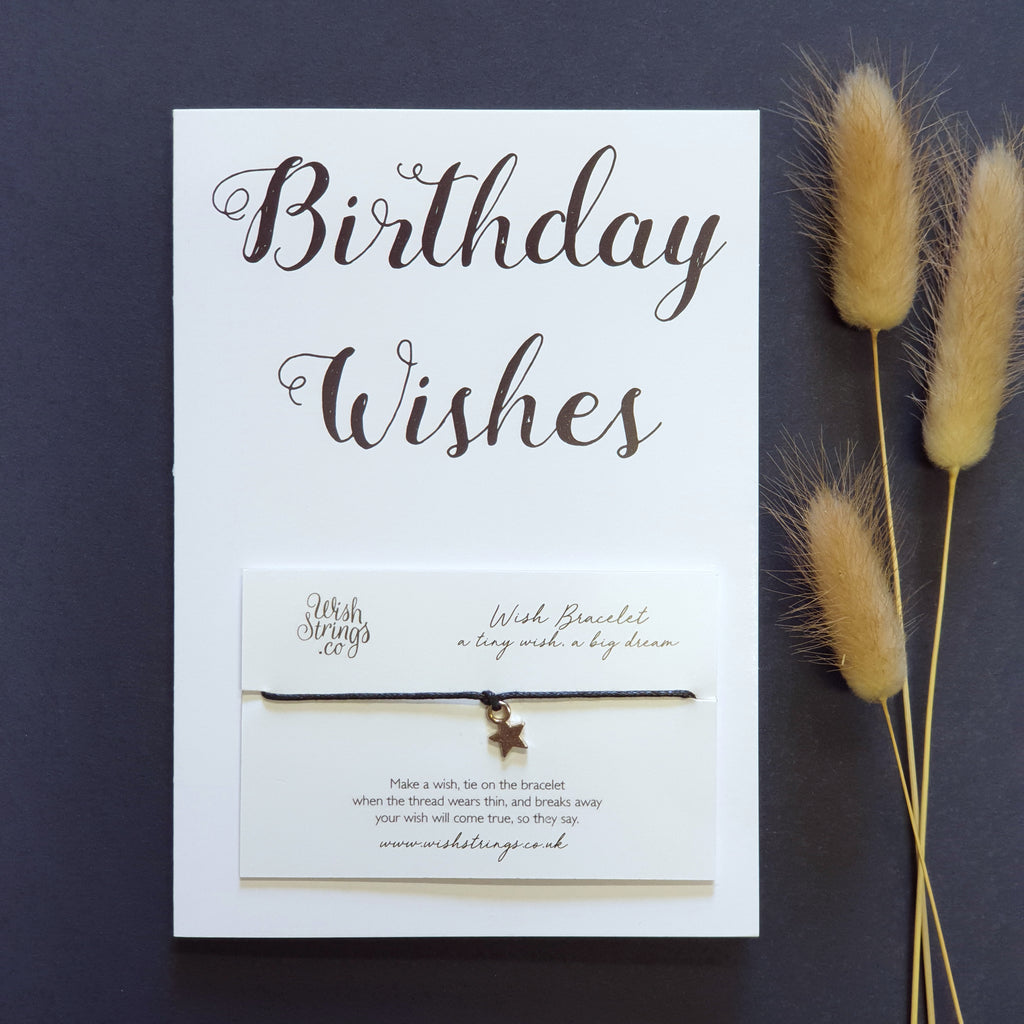 Wishstrings Card-  Birthday Wishes
