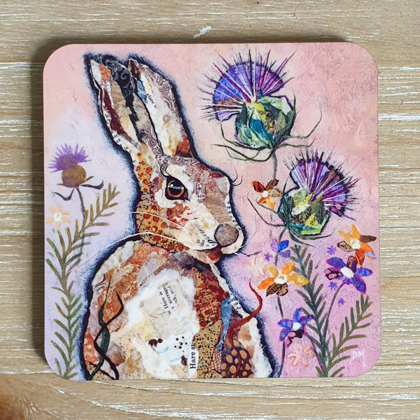 Hare and Thistle Coaster