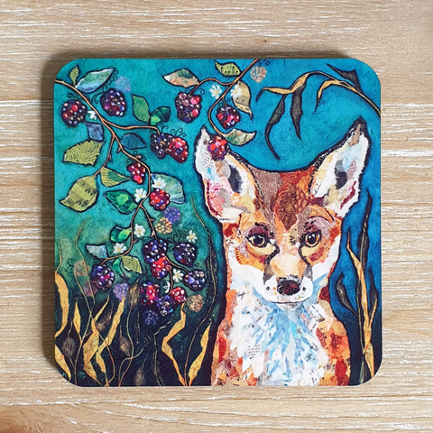 Fox in Brambles Coaster
