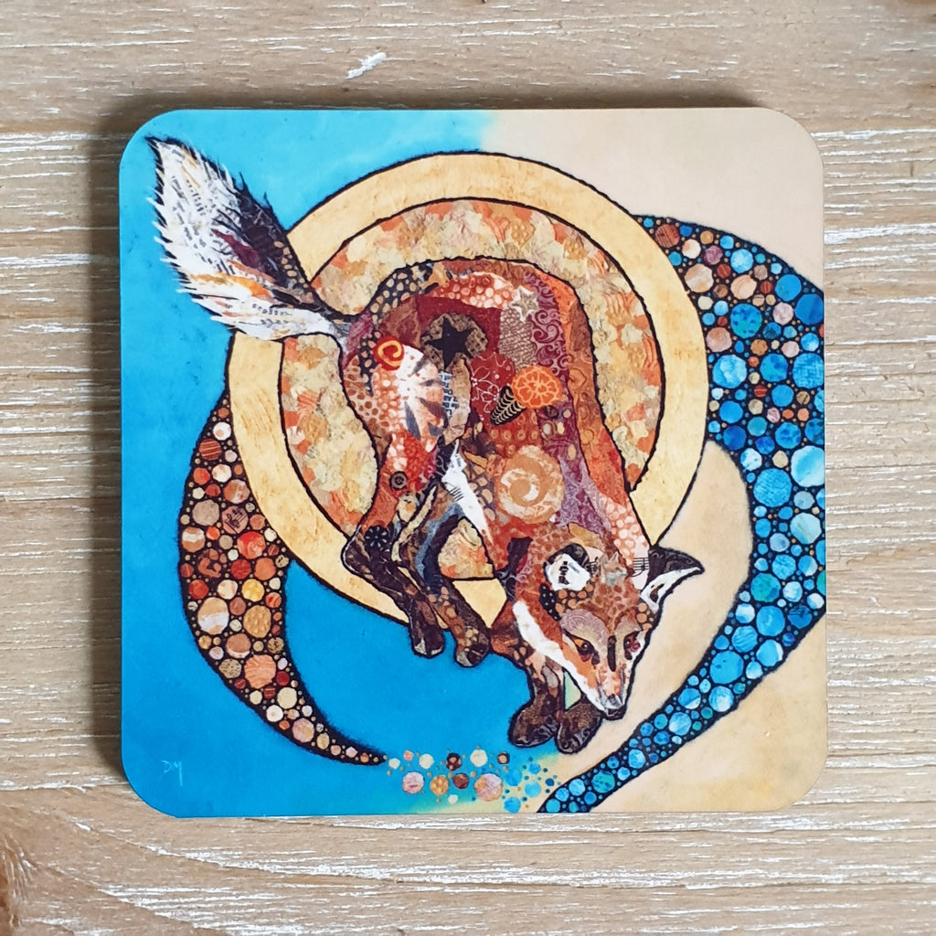 Fox and Golden Moon Coaster