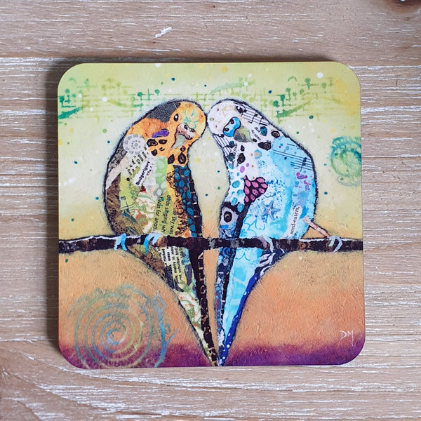Best Buddies-  Budgie Coaster