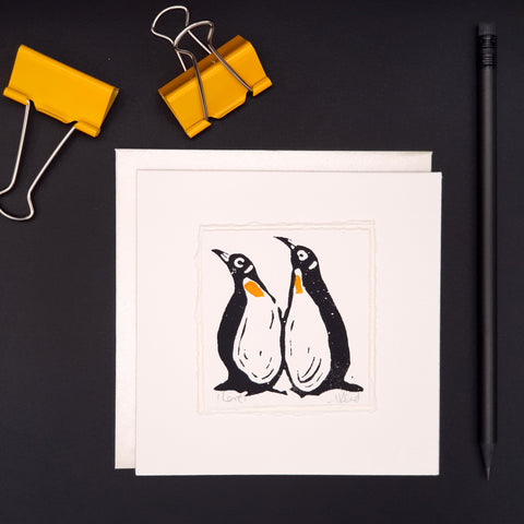 'Love' Penguins- Greetings Card