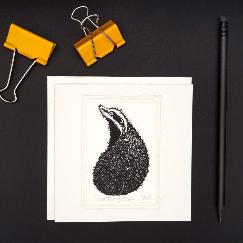 Lovelorn Badger - Greetings Card