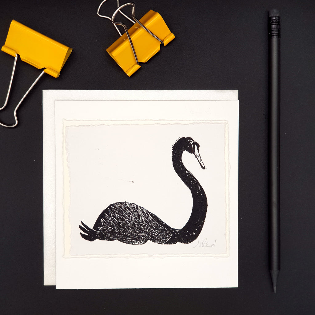 Black Swan Greetings Card