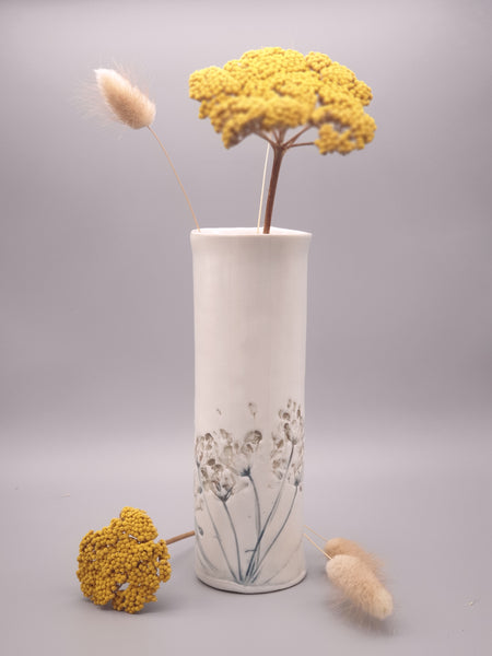 Flora and Fauna Ceramic Vase