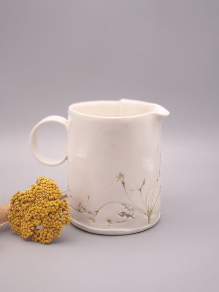 Flora and Fauna Ceramic Jug