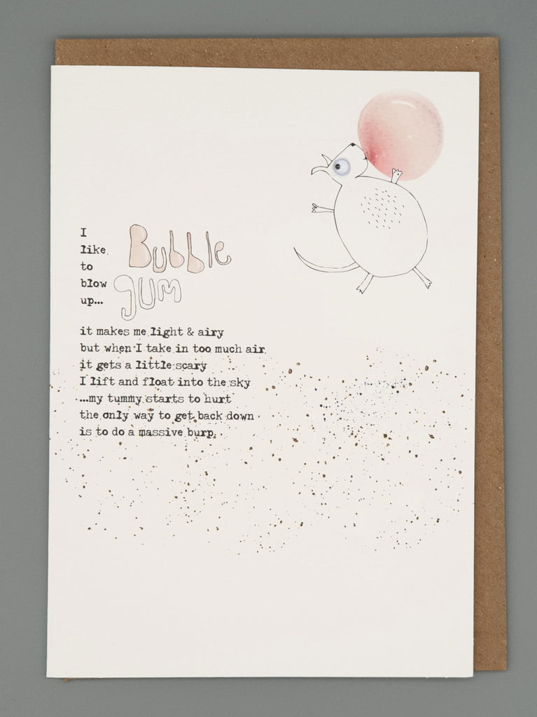 Bubble gum - Greetings card