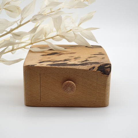 Natural edge wooden box - Spalted Beech