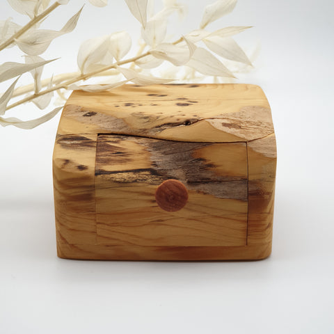 Natural edge wooden box - Yew