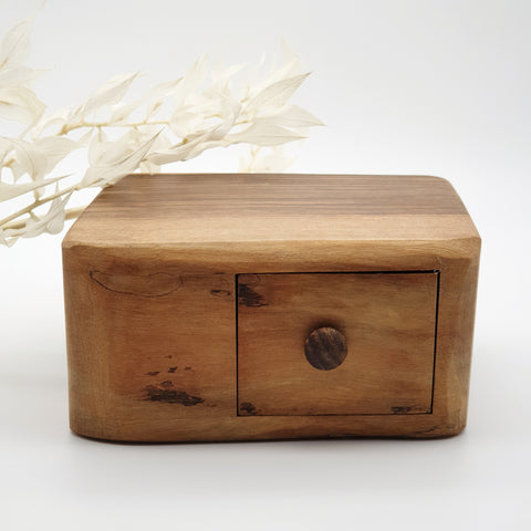 Natural edge wooden box with secret- Walnut