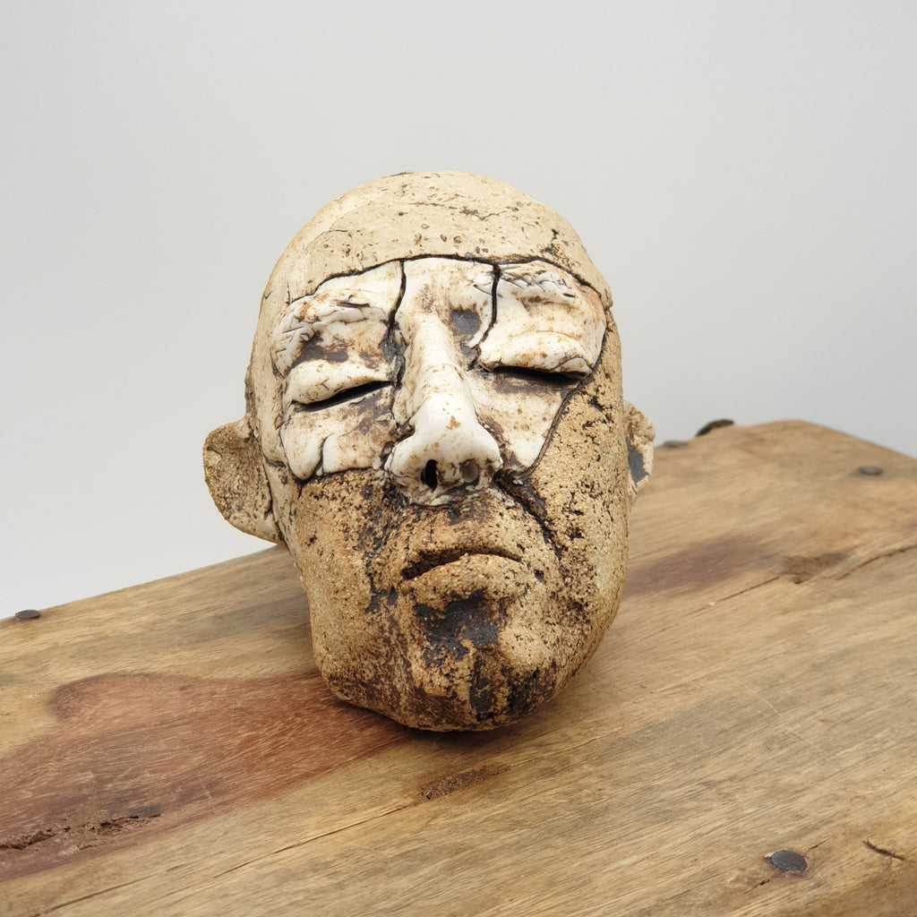 Man Head Sculpture