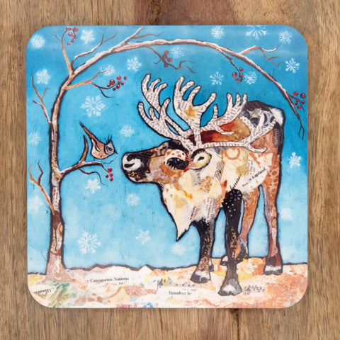 Reindeer and Bird Coaster