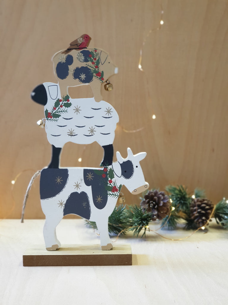 Farmyard stack Christmas Ornament