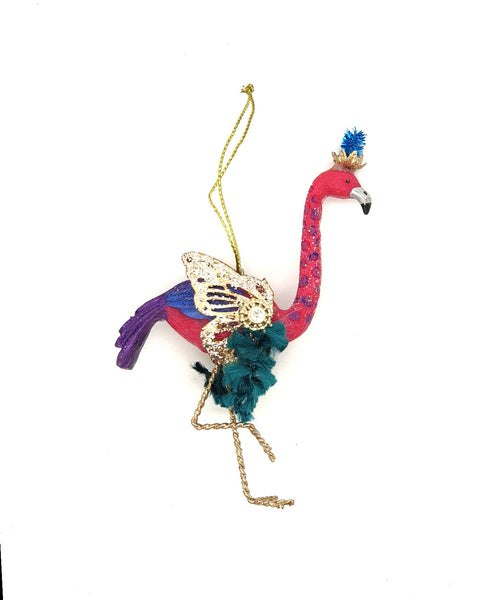 Flamingo hanging Christmas tree decoration