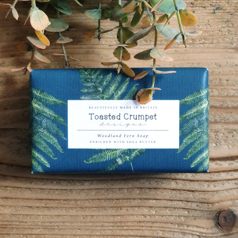 Woodland fern Shea butter soap bar