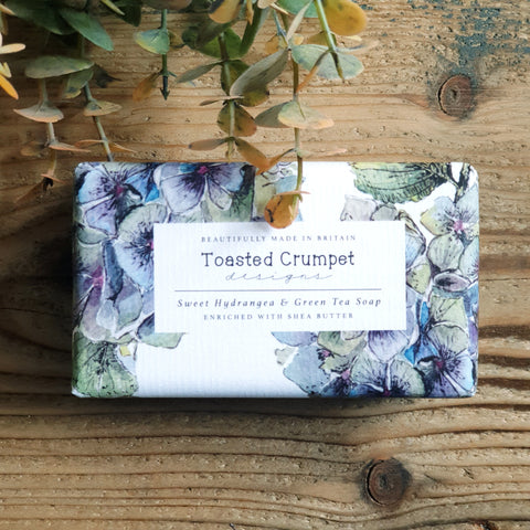 Sweet hydrangea and green tea Shea butter soap bar