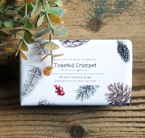 Winter luxury Shea butter soap bar