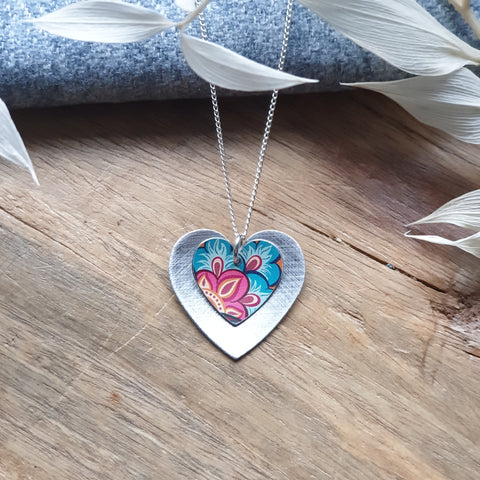 Tiger Lily Double Heart Pendant