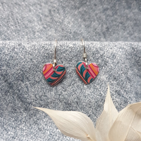 Tiger Lily Heart Earrings