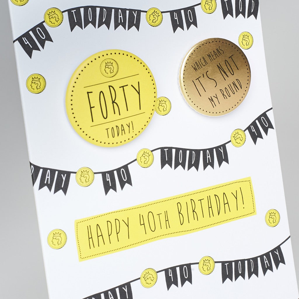 Happy 40 th birthday! Birthday card