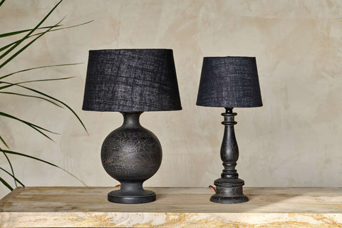 Urku Candlestick style Lamp - Antique Black