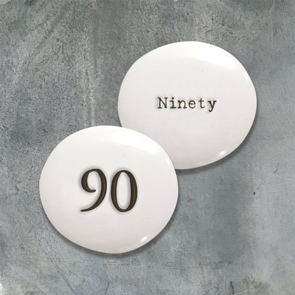 Porcelain Pebble - Numbers