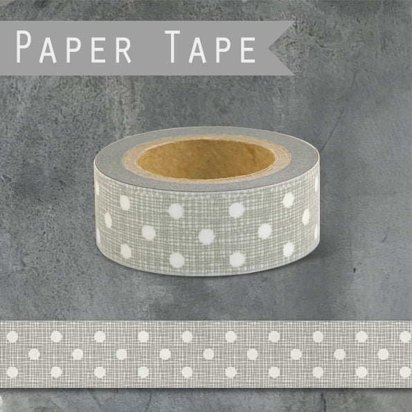 Paper Tape- grey dots