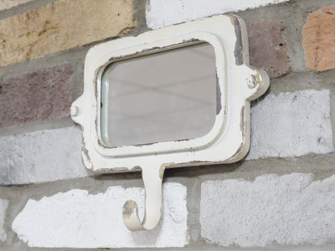 Vintage Industrial Style Mirror with Hook