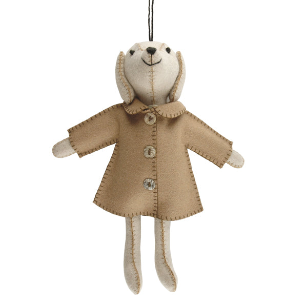 Felt Dog in jacket - Eric