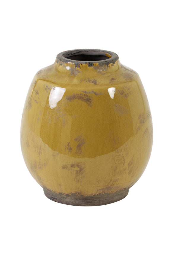 Sinnabung - Ceramic Vase Ochre medium
