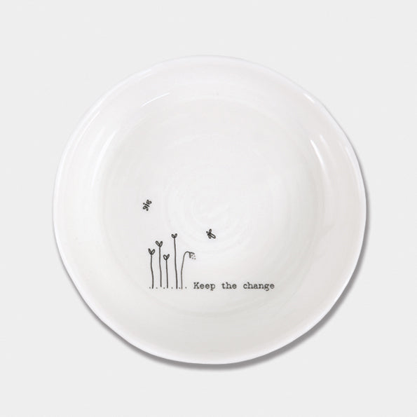 Porcelain Trinket Dish - Keep the Change