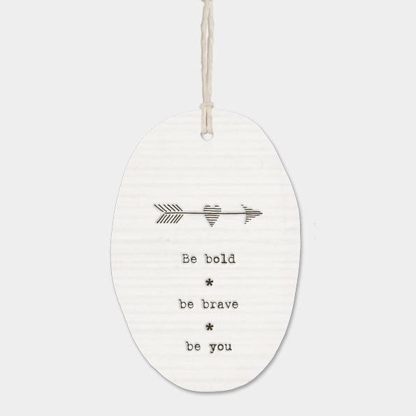 Porcelain hanger arrow - be bold