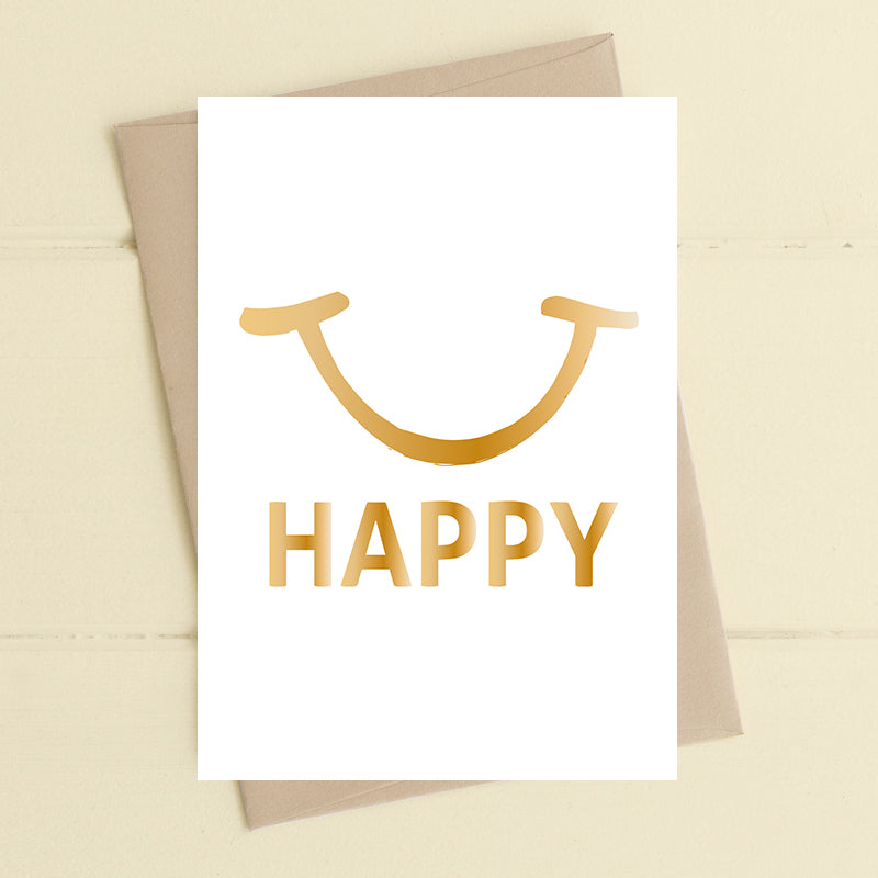 Happy - Greetings Card