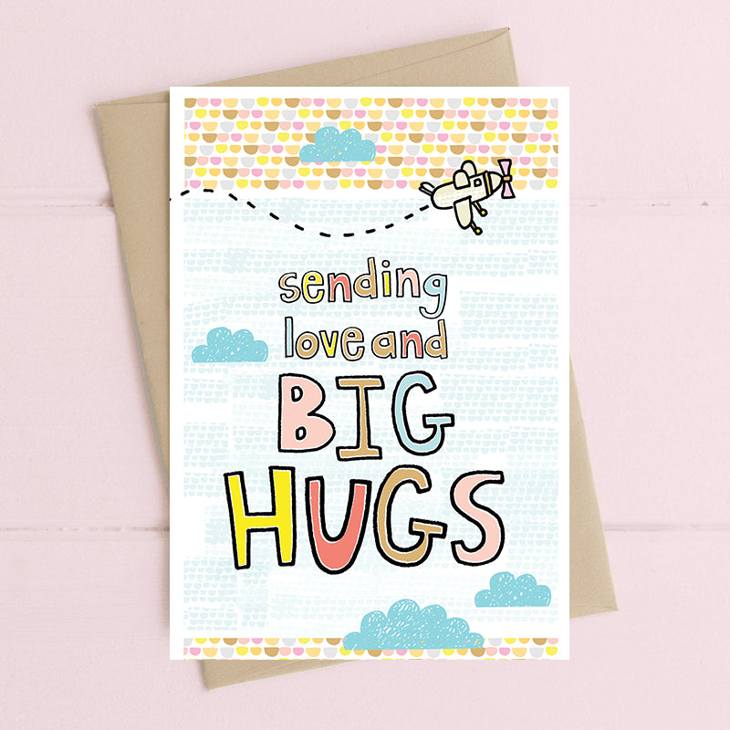 Sending Big Hugs - Greetings Card