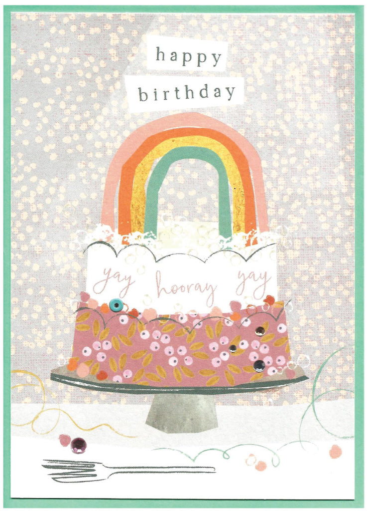 Happy Birthday Rainbow Cake card