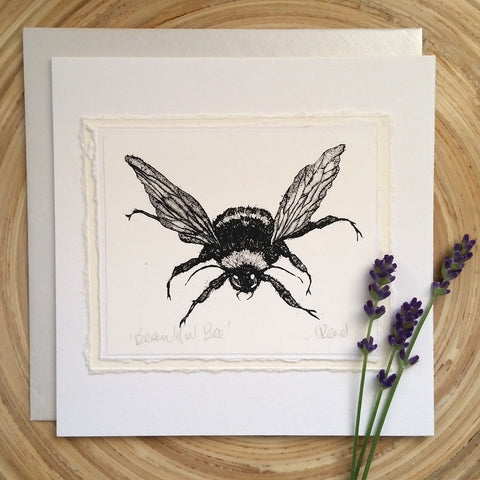Beautiful Bee - Greetings Card