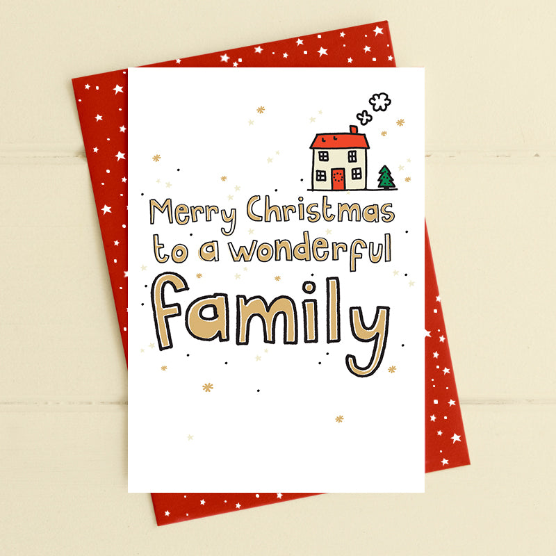 Wonderful family - Christmas Card