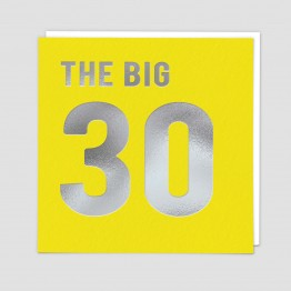 The Big 30 -  Birthday card