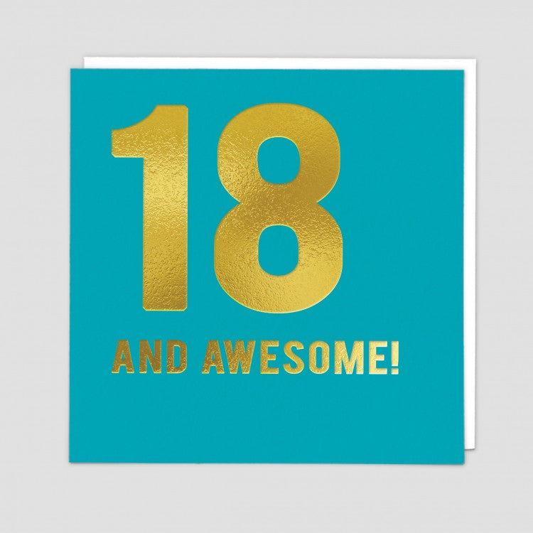 18 and Awesome!  -  Birthday card