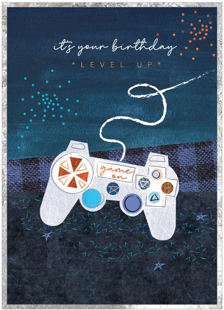 It's your Birthday- level up - game on Birthday Card