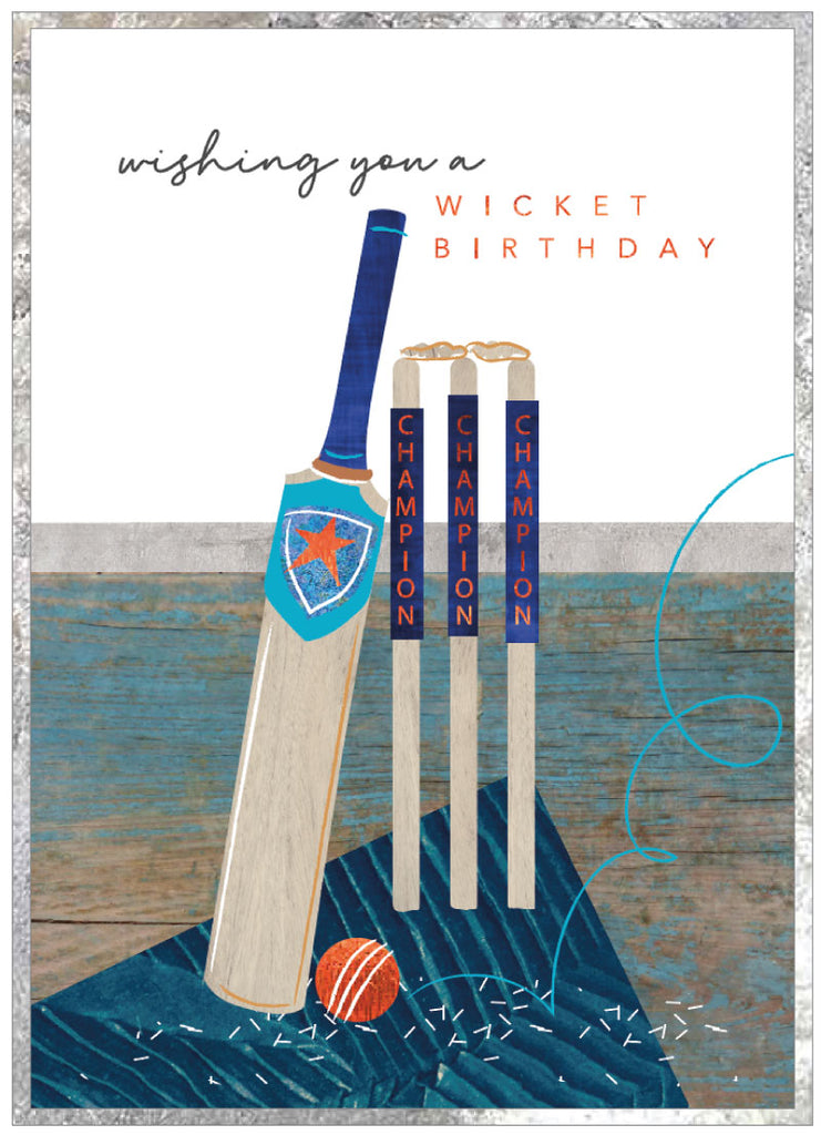 Wishing you a wicket birthday - Cricket Card